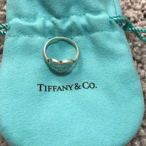 Tiffany & Co. silver heart ring size 6.